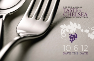 taste of chelsea save the date card