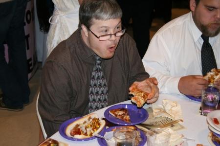 Lee Booth enjoying the food